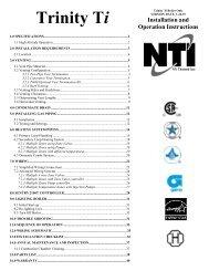 Trinity Ti-100-400 I&O manual - NY Thermal Inc.