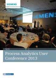 Process Analytics User Conference 2013 - Industry UK - Siemens