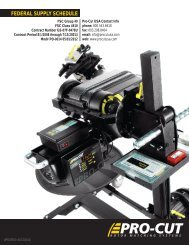 FEDERAL SUPPLY SCHEDULE - Pro-Cut USA On-Car Brake Lathes