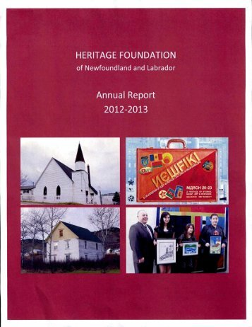 2012-13 Annual Report - Tourism, Culture and Recreation