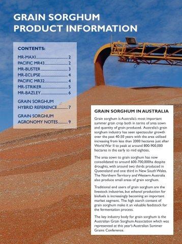 Grain sorGhum product information - Fatcow