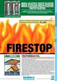 FIRESTOP POLIESTERE - Index S.p.A.