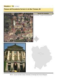 Vincolo n. 14 Palazzo dell'Accademia Carrara in via San Tomaso, 82