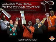 2011 cfpa d-i fcs preseason watch list - College Football ...
