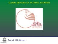 GLOBAL NETWORK OF NATIONAL GEOPARKS - racce