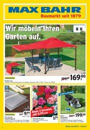 Wir möbeln Ihren Garten auf. - Max Bahr