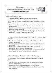 Hinweise zum Qualifizierenden Hauptschulabschluss 2011 in ...