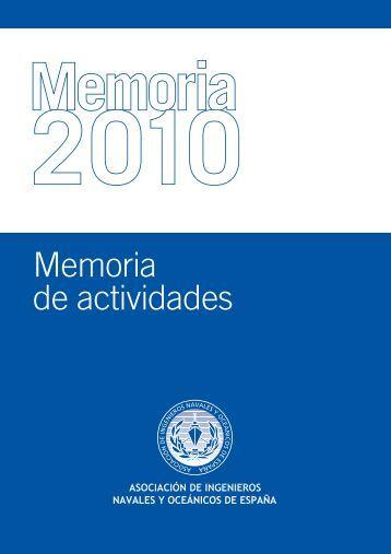 Memoria Actividades AINE 2010 - Colegio Oficial de Ingenieros ...