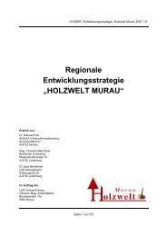 "Regionale Entwicklungsstrategie ""HOLZWELT MURAU"""