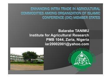 by Prof. Tanimu Balarabe, Director - Islamic Development Bank