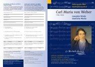 Carl Maria von Weber - Gesamtausgabe - Schott Music