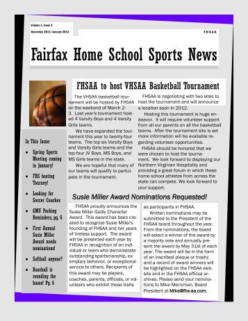 Fairfax Home School Sports News