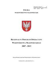 Regionalny Program Operacyjny Województwa Mazowieckiego ...