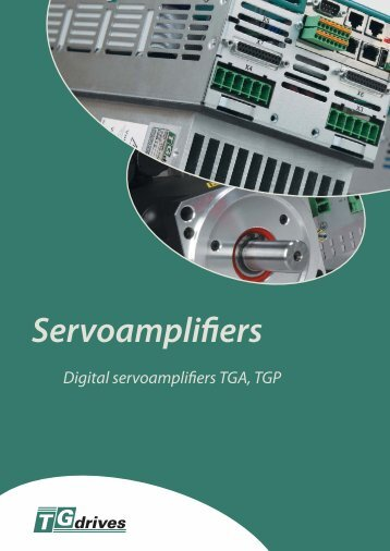 Catalog sheets of TGA and TGP servoamplifiers - TG Drives