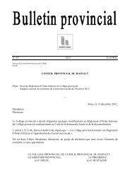 Bulletin n°07 du 18 avril - La Province de Hainaut