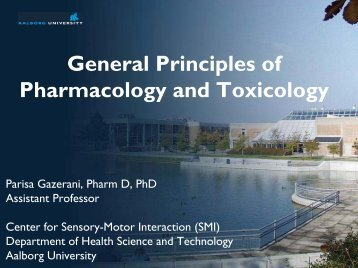 General Principles of Pharmacology and Toxicology - Department of ...