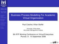 Business Process Modelling For Academic Virtual Organization