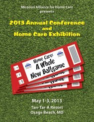 2013 Annual Conference Home Care Exhibition - Missouri Alliance ...