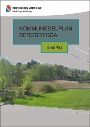 KOMMUNEDELPLAN BERGSBYGDA - Porsgrunn Kommune