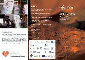 at the forefront of diabetes research - Ciberdem