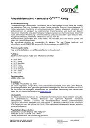Produktinformation PDF - Osmo