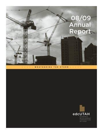 08/09 Annual Report - Economic Development Corporation Utah