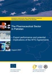 The Pharmaceutical Sector in Pakistan - TRTA i