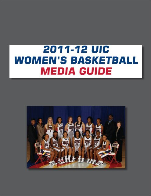 2011-12 UIC WOMEN'S BASKETBALL MEDIA GUIDE - Community