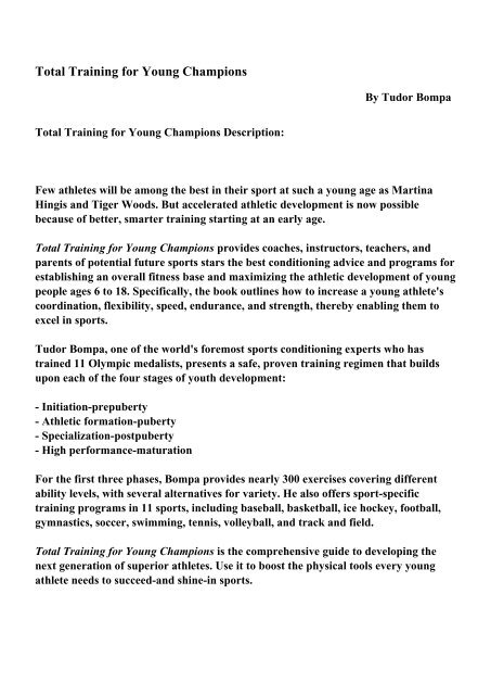 Total Training for Young Champions - PDF eBooks Free Download