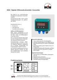 Differenzdruckschalter mit optionalem Transmitterausgang