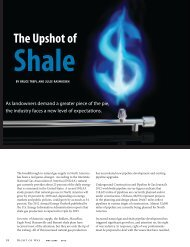 The Upshot Of Shale - International Right of Way Association