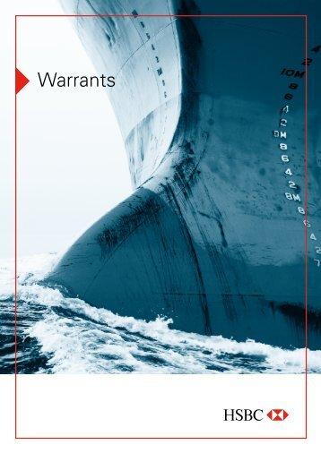 Produktbeschreibung Warrants - HSBC Trinkaus