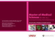 Master Degree - College of Medicine and Health Science