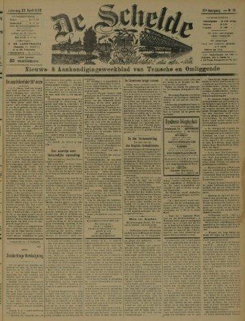 Nieuws- & Aankondigiogsweekblad van Temsche en Omliggende