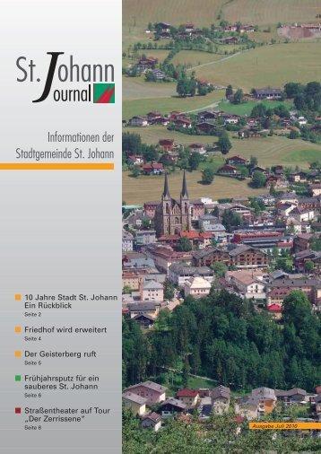 Juli 2010 (905 KB) - Stadtgemeinde St. Johann im Pongau