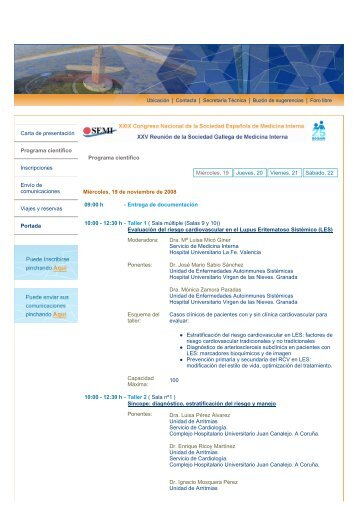 Carta de presentación Programa científico Inscripciones Envío de ...