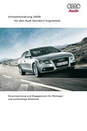 Umwelterklärung 2009 für den Audi Standort Ingolstadt