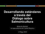 Desarrollando estándares a través del Diálogo sobre Salmonicultura