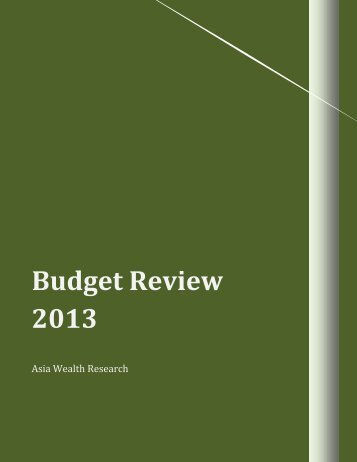 budget report 2013 - Asia Securities|Broker Firms