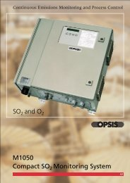 M1050 Compact SO2 Monitoring System SO2 and O2