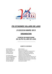 fis citadines villard de lans 21/22/23/24 mars 2013 organisation ...