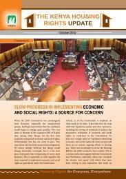 THE KENYA HOUSING RIGHTS UPDATE - Hakijamii