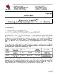 (humaine) contre le virus varicelle-zona - Héma-Québec