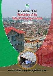 Realization of the Right to Housing in Kenya - Hakijamii