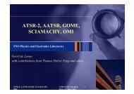 ATSR-2, AATSR, GOME, SCIAMACHY, OMI - AeroCom