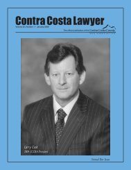 Contra Costa Lawyer - Contra Costa County Bar Association