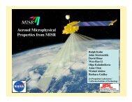 Aerosol Microphysical Properties from MISR - AeroCom