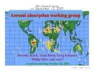 Aerosol absorption working group - AeroCom