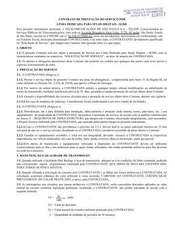 CONTRATO DE PRESTAÇÃO DO SERVIÇO POR LINHA ...