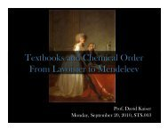 Textbooks and Chemical Order From Lavoisier to Mendeleev - MIT ...